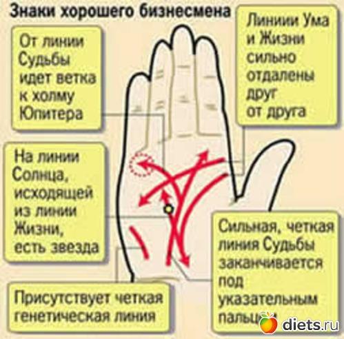 фото линии богатства на руке